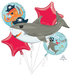 Ahoy Shark Birthday Bouquet (A SET OF 5)