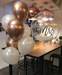 "24"" Crystal Balloon with chrome latex balloon bouquet"