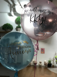 "20"" macaron crystal balloon with message"