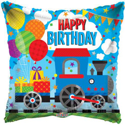"18"" Birthday Choo Choo Foil balloon"