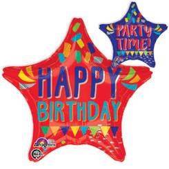"18"" Happy Words Happy Birthday Balloon"
