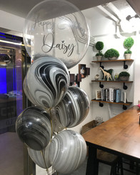 Marble crystal  balloon bouquet