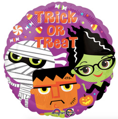 "18"" Trick or Treat Monsters Balloon"