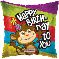 "18"" Birthday Monkey Balloon"