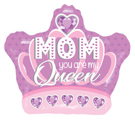 "18"" Mom Queen Foil Balloon"
