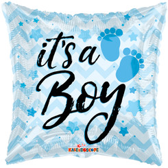 "18"" It's A Boy Chevron Foil Balloon"