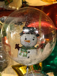 "20"" crystal balloon with snowman"