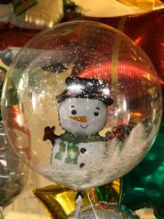 "20"" crystal balloon with snowman"