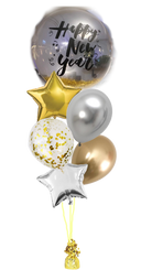 Happy New Year Crystal balloon bouquet
