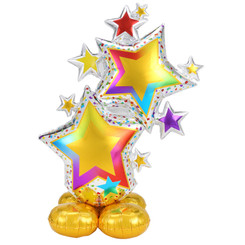 "59"" Colorful Star Cluster Airloonz balloon"