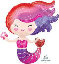 """30"""" Lovely Mermaid supershape foil balloon"""