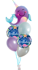 Narwhal Birthday bouquet