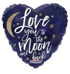 """18"""" Love You To The Moon Holographic Balloon"""