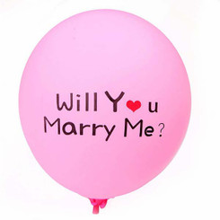 "12"" Will You Marry Me Latex"