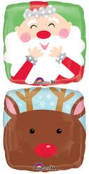 """18"""" Jolly Santa & Reindeer"""