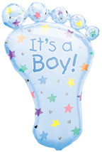 "32"" It's A Boy Foot Supershape"