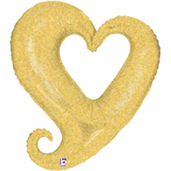 "37""  Chain of Hearts - Gold"