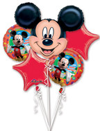Mickey Mouse Birthday Bouquet  (A SET OF 5)