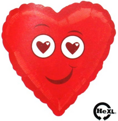 "18"" Red Smiley Heart"