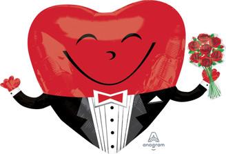 """28"""" Smile Heart Guy"""