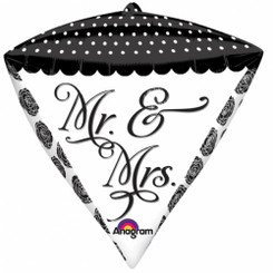 Diamondz Foil Balloons - Sophisticated Mr. & Mrs.