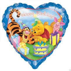 "18"" Winnie The Pooh Happy Birthday Heart"