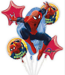 Spiderman Birthday Bouquet (A SET OF 5)