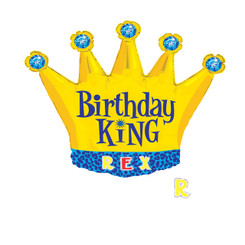 """36"""" Birthday King Personalized"""