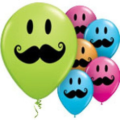 "12"" Mustache Latex Balloon (assorted colors)"