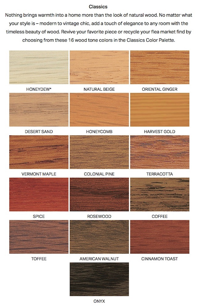 Describes Our Standard Finishes And Sample Minwax Stain