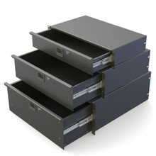 PENN-ELCOM LOCKING RACK DRAWERS: 2u, 3u, 4u & 5u