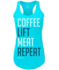 ROKFIT WOMEN COFFEE, LIFT, MEAT, REPEAT