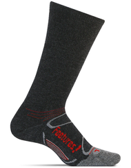 Features Elite Merino+ Heavy Cushion Crew Socks Heather Brow crossfit running cold