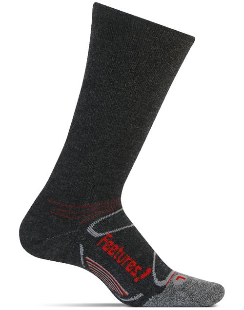 Features Elite Merino+ Heavy Cushion Crew Socks Heather Brow crossfit running cold