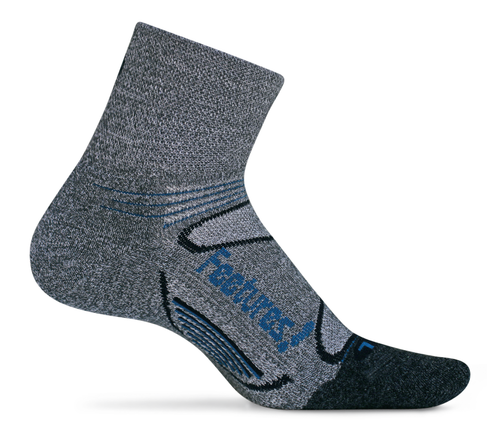 Features Elite Merino+ Cushion Quarter Socks Grey style em2005462 crossfit skiing