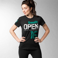 2016 REEBOK CROSSFIT OPEN WOMEN TEE BLACK (BK3572)