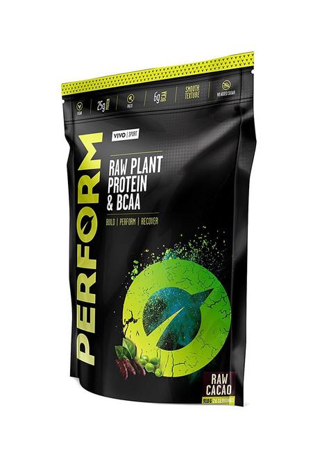 Vivo Life PERFORM Plant Based Protein Powder MADAGASCAN VANILLA with BCAA Vegan All Natural Paleo - www.BattleBoxUK.com
