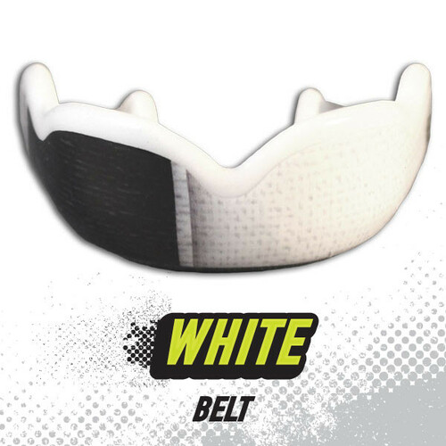 DAMAGE CONTROL WHITE BELT HIGH IMPACT MOUTHGUARD www.battleboxuk.com