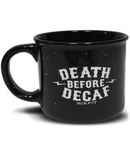 ROKFIT DEATH BEFORE DECAF COFFEE MUG www.battleboxuk.com