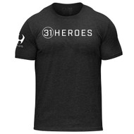 HYLETE 31Heroes Project tri-blend crew tee black/white www.battleboxuk.com