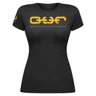 Hylete O.U.R. tri-blend Woman crew tee (black/yellow) www.battleboxuk.com