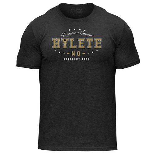 Hylete New Orleans tri-blend crew tee (vintage black/new orleans) www.battleboxuk.com