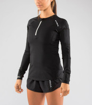 Virus Women's Stay Cool Functional Fit Long Sleeve 1/2 Zip Top (Eco23) Black www.battleboxuk.com