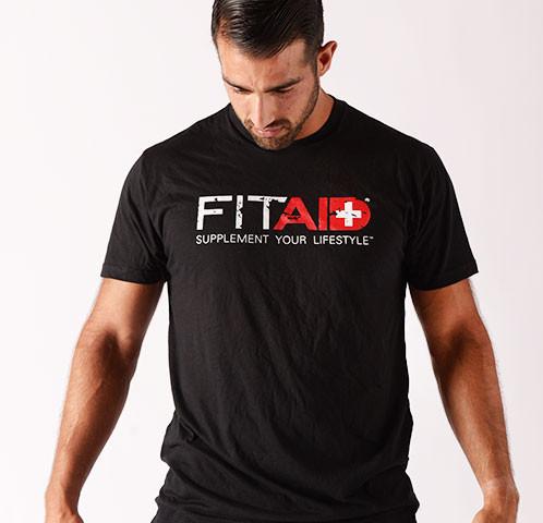 FITAID BLACK BI-BLEND T-SHIRT WWW.BATTLEBOXUK.COM