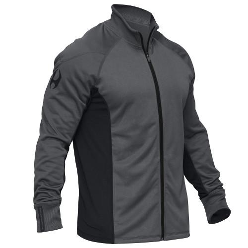 Hylete Apex Ribbed Collar Jacket (black/neon green) www.battleboxuk.com