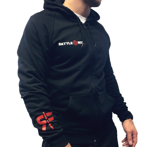 "Battle Box ""Shut Up & Lift"" Throwdown Edition Hoodie www.battleboxuk.com"