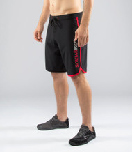 VIRUS MEN'S AIRFLEX TRAINING SHORT (ST1) BK/RD  www.battleboxuk.com