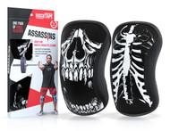 www.BattleBoxUk.com - RockTAPE Assassins® Skull Knee Sleeves - Knee Support & Protection Caps 5mm or 7mm