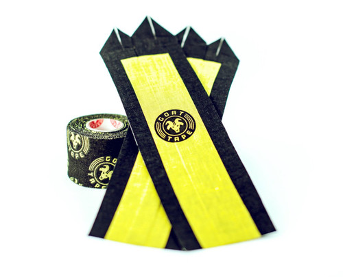 """Goat Tape The Natural Grip Combo """"Grip+ Goat Tape Roll"""" Black and Yellow  - www.BattleBoxUk.com"""