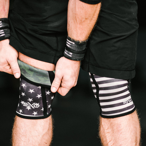 EXO SLEEVES STARS & STRIPES / CAMO - REVERSIBLE SLEEVE - 5MM KNEE SLEEVES (PAIR) (KS-5MM-NOAHREVERSIBLE) - www.BattleBoxUk.com